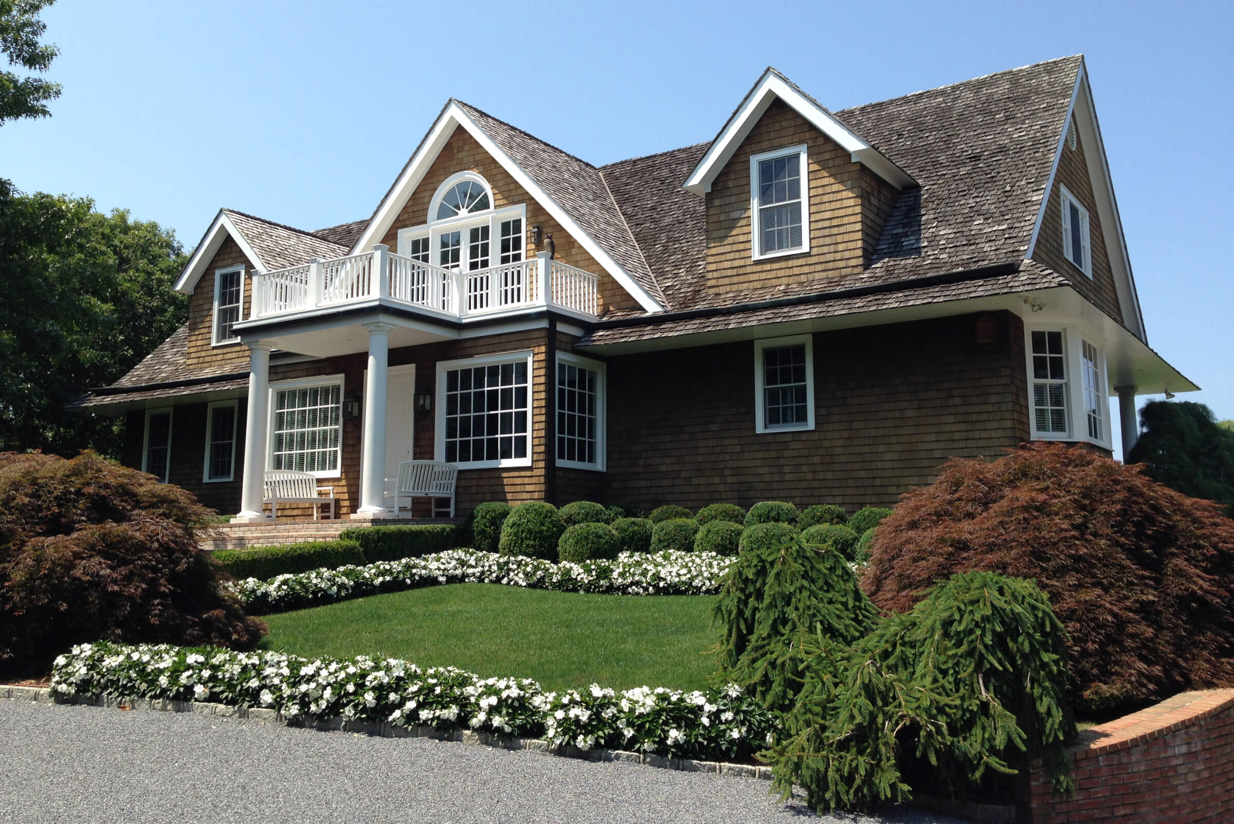 Front yard residential landscaping