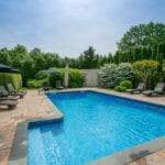 Inground pool created by our landscapers
